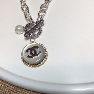 Authentic Chanel button necklace.